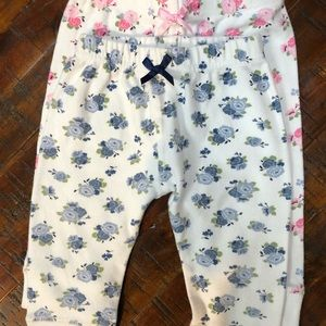 2 pair 6month Luvable friends pull-on pants